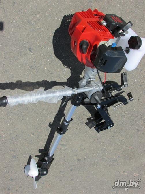 лодочные моторы из мотокосы видео