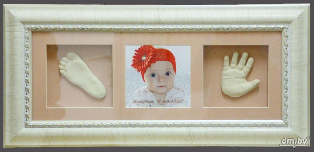отделений отпечаток руки ребенка из гипса купить открыть