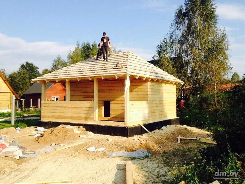 Строим дом из бруса своими руками от фундамента до крыши фото 13