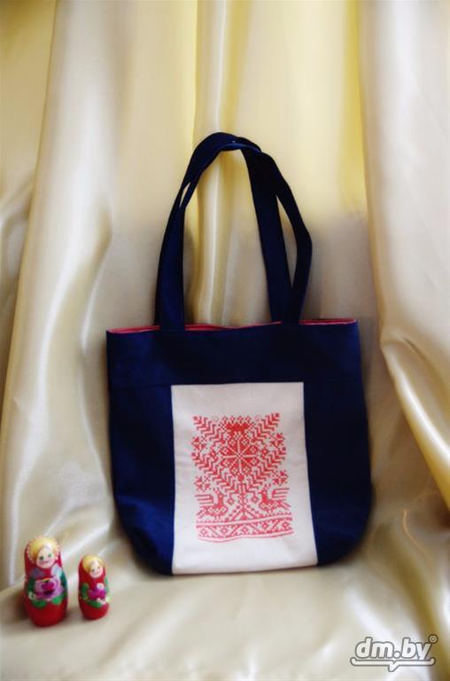Удобная льняная женская пляжная сумка с длинной ручкой в