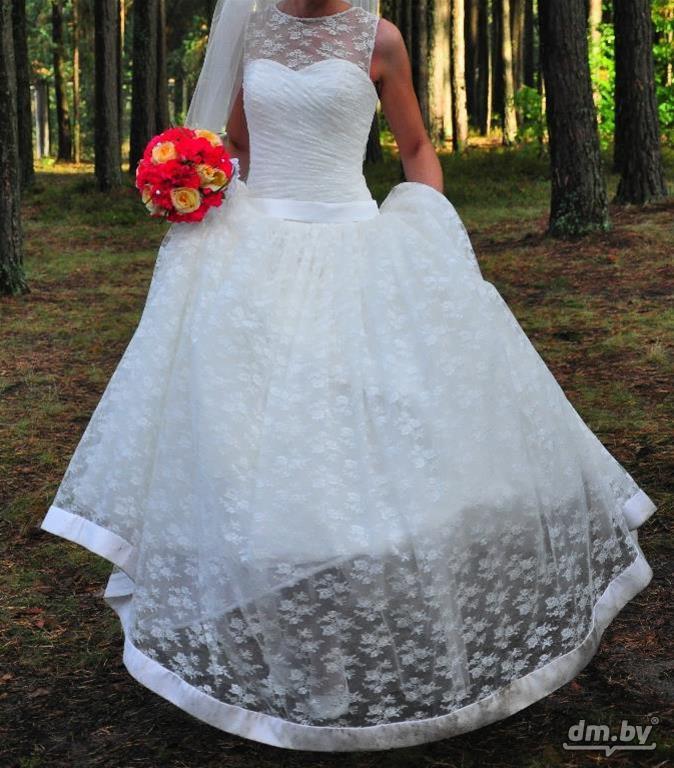 Свадебные платья пышных форм